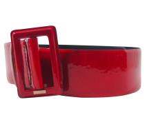 Second Hand Gürtel aus Lackleder in Rot