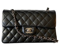 Second Hand Classic Flap Bag Small aus Leder in Schwarz