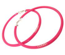 Second Hand Große Kreolen Ohrringe – kräftiges Pink