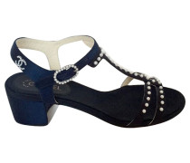 Second Hand Sandaletten mit Perlen