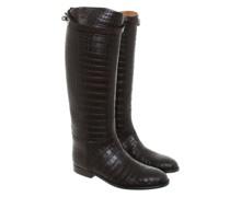 Second Hand  Stiefel aus Krokoleder