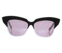 Second Hand Sonnenbrille in Schwarz/Weiß