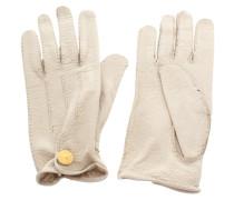 Second Hand Lederhandschuhe in Cremefarben
