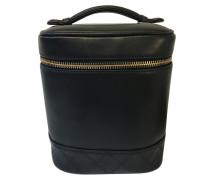 Second Hand Beautycase aus schwarzem Leder