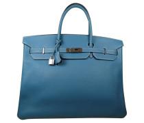 Second Hand Birkin Bag 40 Blue Jean Togoleder