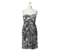 Second Hand  Trägerloses Kleid mit Muster