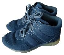Second Hand Sneakers aus Kaschmir in Blau