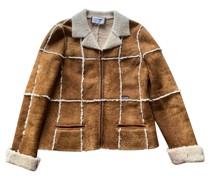 Second Hand Jacke/Mantel aus Leder in Braun