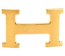 Second Hand  Goldfarbene H-Schließe