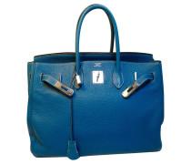 Second Hand Birkin Bag 35 Bleu Jean Togoleder