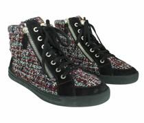 Second Hand Sneakers aus Leder in Violett