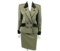 Second Hand  Zweireihiger Anzug aus Wolle