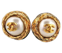 Second Hand Perlen-Ohrringe Logo Mania