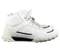 Second Hand Sneakers aus Lackleder in Weiß