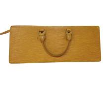 Second Hand Handtasche aus gelbem Epileder