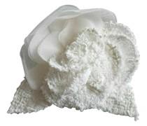 Second Hand Brosche in Weiß