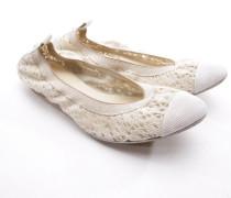 Second Hand ChanelLeinen Ballerinas