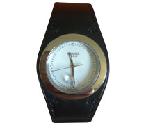 Second Hand Uhr Leder Schwarz