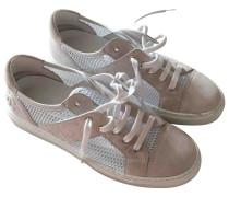 Sneakers Velourleder Weiß