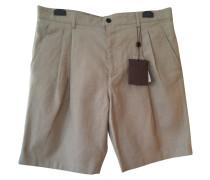 Shorts Baumwolle Beige