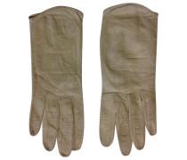 Second Hand Handschuhe Leder Beige