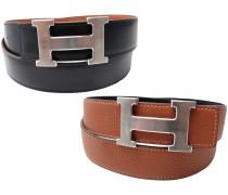 Second Hand Boucle seule / Belt buckle Leder Gürtel