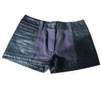 Shorts Leder Schwarz