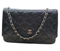Second Hand ChanelWallet on Chain Leder Handtaschen
