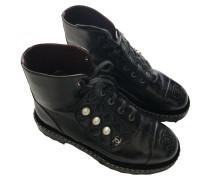 Second Hand ChanelLackleder Geschnürt boots