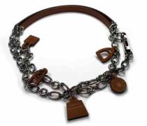 Second Hand Halskette Metall Silber