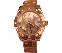 Second Hand Uhr Datejust Gold Rosa