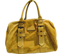 Handtasche Kate Moss Velourleder Beige