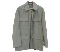 Second Hand Jacke.Blouson Polyester Grün