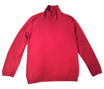 Pullover Wolle Bordeauxrot