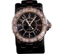 J12 Blanche Chronographe Diamants Keramik montre