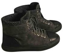 Second Hand Sneakers Veloursleder Grau