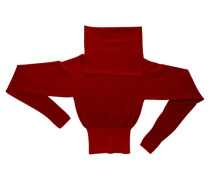 Pullover Wolle Rot