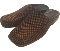 Second Hand Kalbsleder in pony-optik sandalen