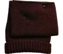 Hut,  Mütze Bordeauxrot