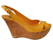 Second Hand Sandalen Leder Gelb