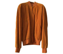 Second Hand Jacke.Blouson Veloursleder Orange