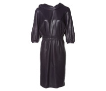Second Hand Leder midi kleid