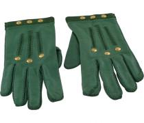 Second Hand Handschuhe Leder Grün