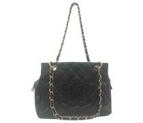 Second Hand VINTAGE Chanel Grand shopping Leder Handtaschen