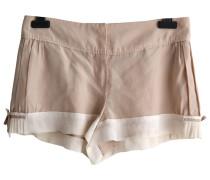 Second Hand Shorts Seide Beige