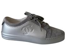 Second Hand ChanelSneakers Kautschuk Grau