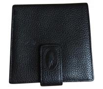 Second Hand Portemonnaie Leder Schwarz