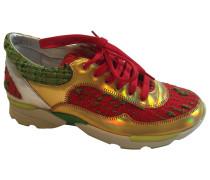Sneakers Leder Gold