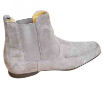 Second Hand Stiefel Velourleder Beige