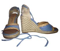 Second Hand Sandalen Leder Blau